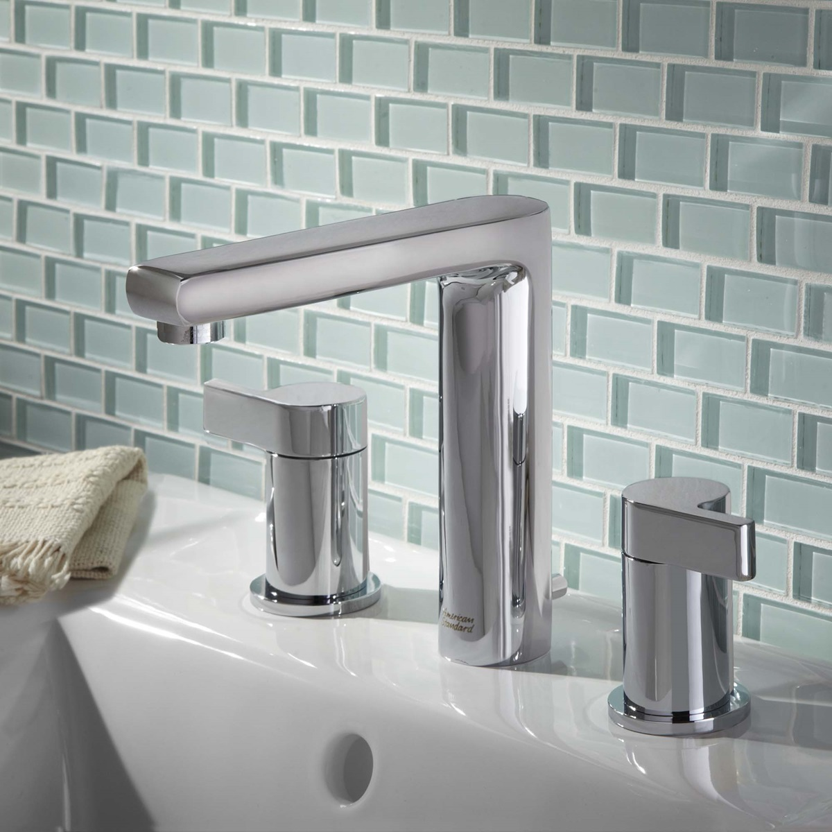 Studio 2-Handle 8 Inch Widespread High-Arc Bathroom Faucet