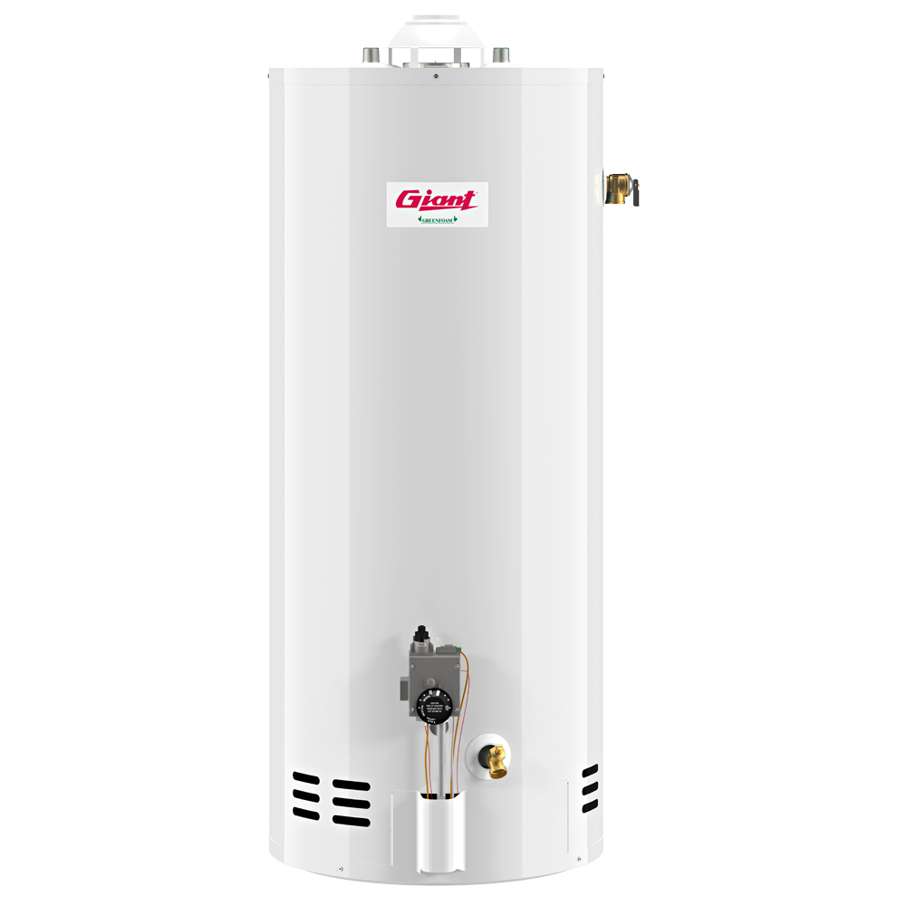 Giant Residential Gas-Fired Water Heater – Atmospheric – 40 U.S. Gal. 38,000 BTU