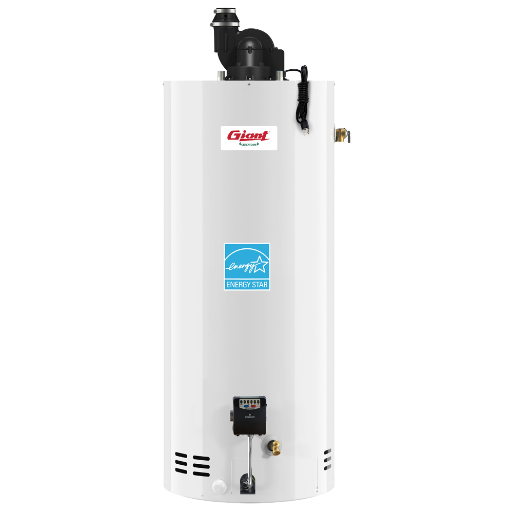 Giant Residential Gas-Fired Water Heater – Power Vent – 40 U.S. Gal.