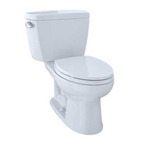 "Eco Drake Two-Piece Toilet, 1.28GPF, 10"" Rough-In, Elongated Bowl"