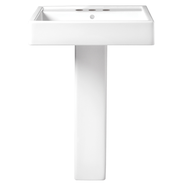 Cossu 24 Inch Pedestal Bathroom Sink - 3 Faucet Holes