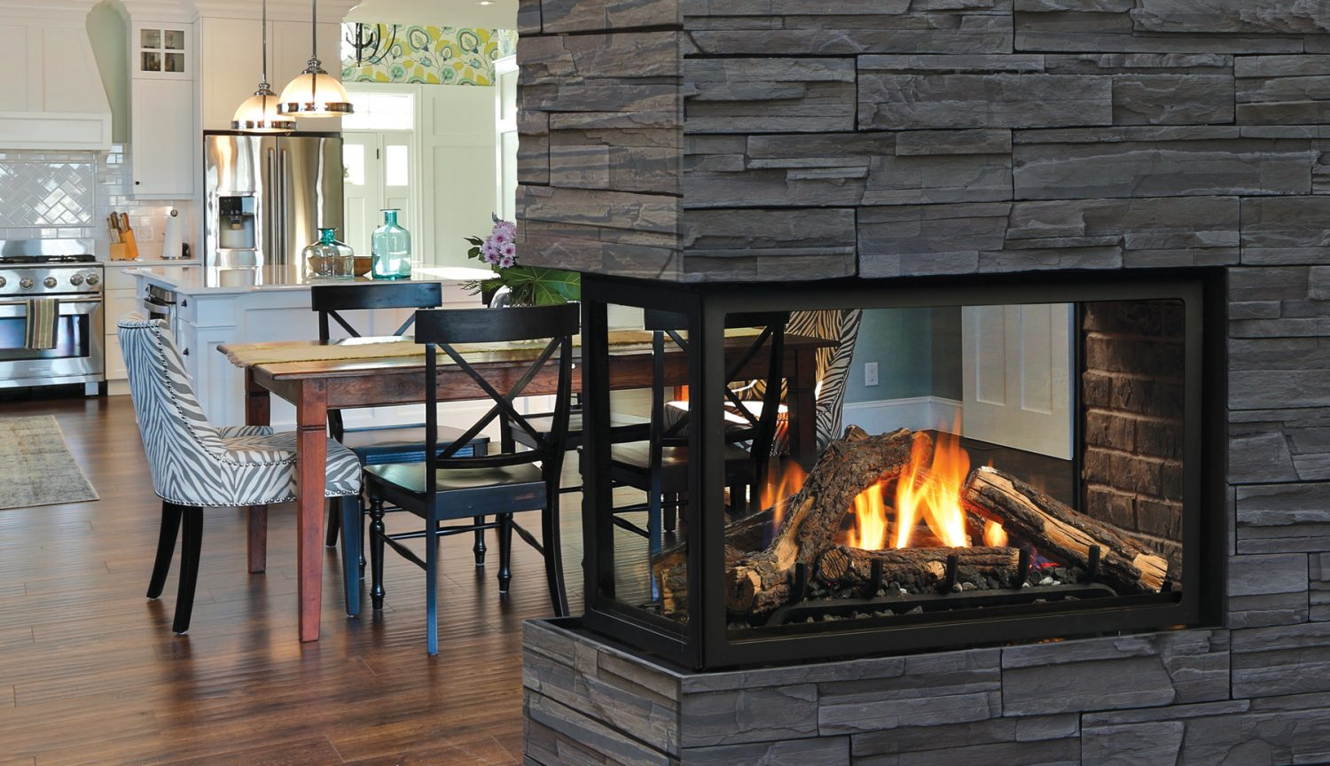 Zero Clearance Direct Vent Peninsula Gas Fireplace