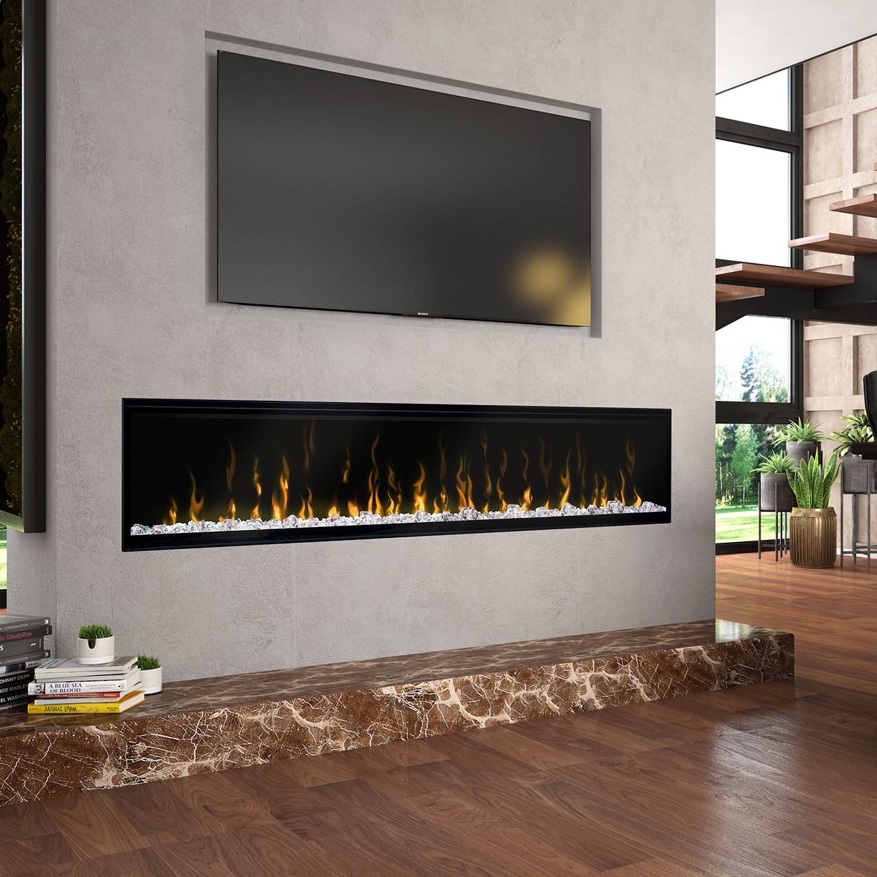 "IgniteXL® 74"" Linear Electric Fireplace"